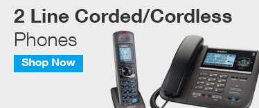 2 Line Corded/Cordless Phones