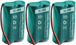 Uniden Battery for Uniden 6010 (3-Pack) BT1011 / BT1018 / BATT-6010 Re