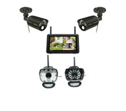 Uniden 4 Camera Video Surveillance Touch Screen Systems uniden UDR777HD UDRC58HD ULC58