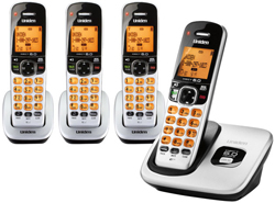 Four Handset Phones uniden d 1760 4
