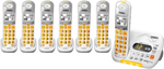 Uniden D3097-7 DECT 6.0 Amplified Cordless Phone w/ 6 Extra Handsets