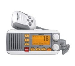 Uniden Waterproof Weather Radios uniden um435 fixed mount vhf radio white