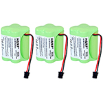Uniden Battery for Uniden BP120 (3-Pack) 2-Way Radio Battery