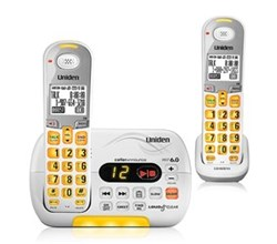 Uniden Two Handsets DECT 6 Cordless Phones uniden d 3097 2 r