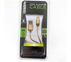 Mobile and Audio Accessories uniden un1198 sync and charge cable gold