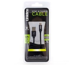 Mobile and Audio Accessories uniden un1197 sync and charge cable black