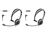 Panasonic KX-TCA430-Uniden-2 Pack Foldable Over the Head Headset