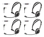 Panasonic KX-TCA430-Uniden-4 Pack Foldable Over the Head Headset