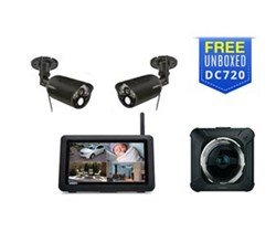 Uniden Video Surveillance 2 Camera Systems uniden udr744hd with free dc720 dash camera